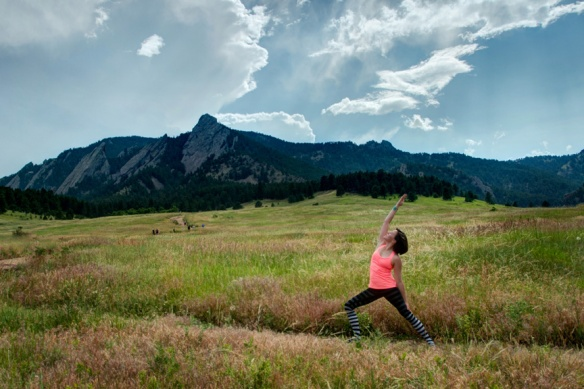 Reverse Warrior Pose, Chatauqua, Boulder, CO