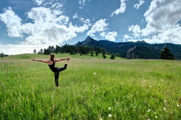 Natarajasana, King Dancer Pose, Chatauqua, Boulder, CO