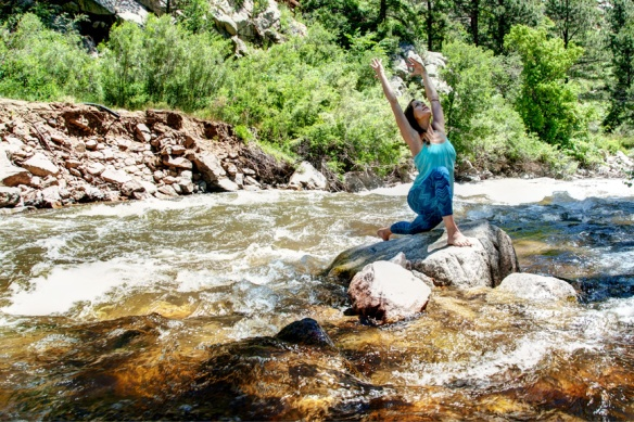 Anjaneyasana, Low Lunch Pose, Boulder Creek, Boulder, CO